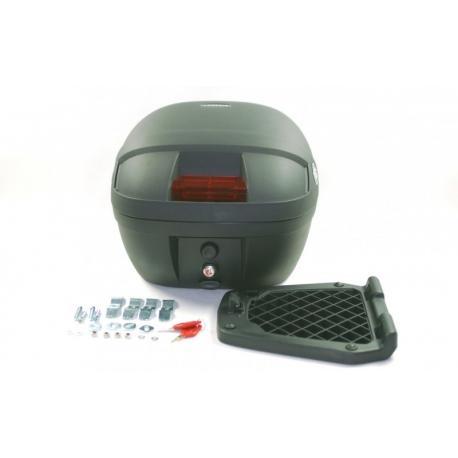 Kufer COOCASE S30 Basic, 30 l., czarny, mały czerwony odblask