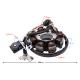 Iskrownik uniwersalny do motoroweru 50cc 4T: 8 cewek, 5 przewodów