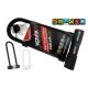 Kłódka U-Lock z alarmem KOVIX KTL14-300 czarna