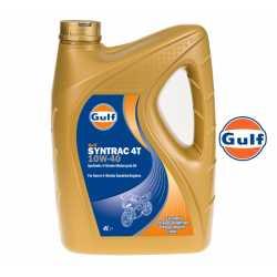 Olej silnikowy syntetyczny GULF SYNTRAC 4T 10W40 4 litry