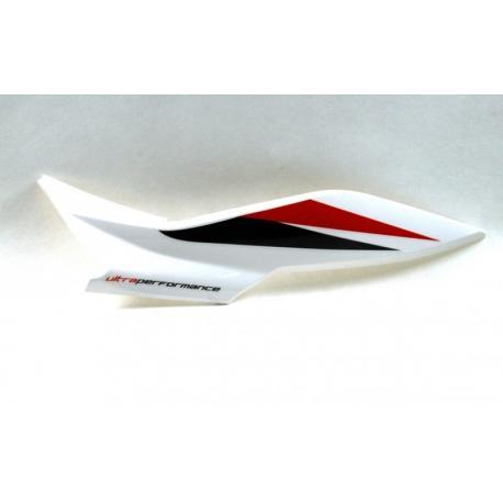 Obudowa tylna lewa biało-czerwona do motoroweru FR50