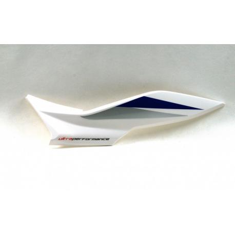 Obudowa tylna lewa biało-niebieska do motoroweru FR50