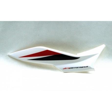 Obudowa tylna prawa biało-czerwona do motoroweru FR50