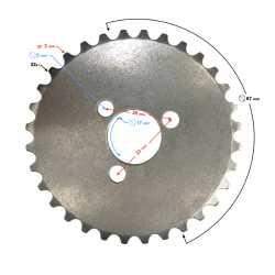 Zębatka łańcuszka rozrządu do motoroweru 130 cc