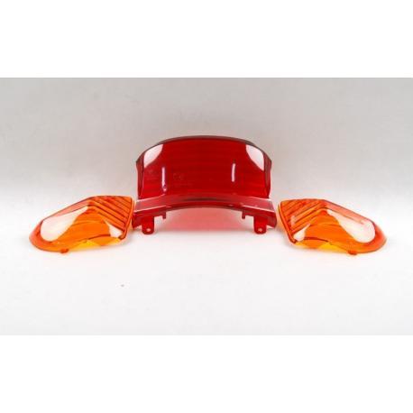 Klosz lampy tylne z kierunkowskazami do skutera 21 2 (pomarańczowe)