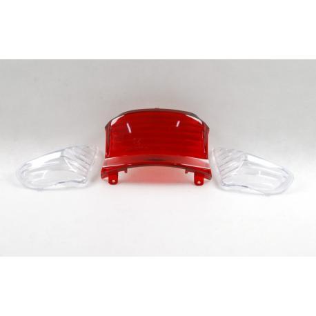 Klosz lampy tylnej z kierunkowskazami do skutera 21 2 (białe)