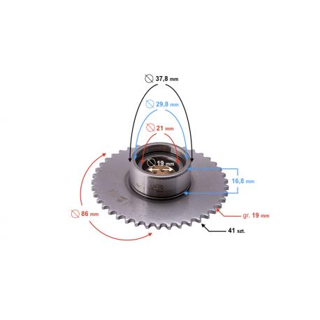 Zębatka rozrządu do silnika 130cc